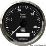 GPS Geschwindigkeitsmesser  Typ 1 Anzeige schwarz, Ring poliert  Kein Geber notwendig.