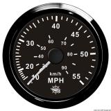 Geschwindigkeitsmesser Anzeige schwarz - Blende schwarz 0 bis 65 MPH