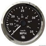 Geschwindigkeitsmesser Anzeige schwarz - Blende poliert 0 bis 65 MPH