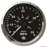 Geschwindigkeitsmesser Anzeige schwarz - Blende poliert 0 bis 35 MPH