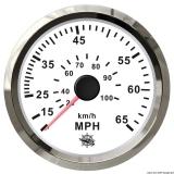 Geschwindigkeitsmesser Anzeige weiß - Blende poliert 0 bis 35 MPH