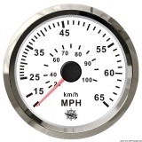 Geschwindigkeitsmesser Anzeige weiß - Blende poliert 0 bis 65 MPH