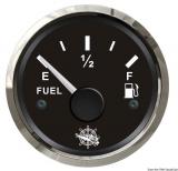 Treibstoffstandsanzeige 10 bis 180 Ohm Anzeige schwarz Blende poliert
