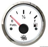 Treibstoffstandsanzeige 10 bis 180 Ohm Anzeige weiß Blende poliert