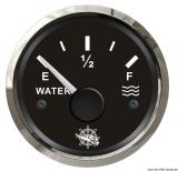 Wasserstandsanzeige 10 bis 180 Ohm  Anzeige schwarz Blende poliert