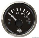 Wassertemperaturanzeige Anzeige schwarz Blende poliert