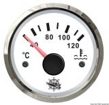 Wassertemperaturanzeige Anzeige weiß Blende poliert