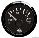 Voltmeter 8 bis 16 V Anzeige Anzeige schwarz Blende schwarz