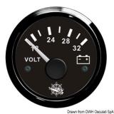 Voltmeter 18 bis 32 V Anzeige Anzeige schwarz Blende schwarz