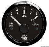 Öldruckanzeige 0 bis 5 bar Anzeige schwarz Blende schwarz