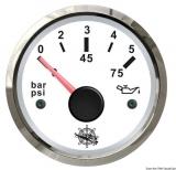 Öldruckanzeige 0 bis 5 bar Anzeige weiß Blende poliert