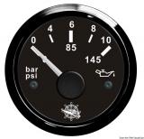 Öldruckanzeige 0 bis 10 bar Anzeige schwarz Blende schwarz