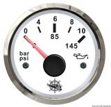 Öldruckanzeige 0 bis 10 bar Anzeige weiß Blende poliert