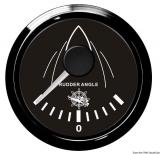 Anzeigeinstrument Ruderausschlag  Anzeige schwarz Blende schwarz