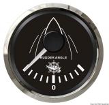 Anzeigeinstrument Ruderausschlag  Anzeige schwarz Blende poliert