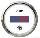 Digitaler Strommesser Anzeige weiß Blende poliert