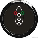 Navigationslicht-Kontrolle Anzeige schwarz Blende schwarz