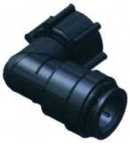 SeaTech Knie-Stück weiblich 15mm mit Überwurfmutter, 1/2 NPS Gewinde