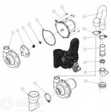 Ersatz-Spülpumpe für Laguna Hydro-Vacuum Toilette 12V