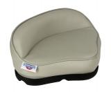 Einzelner Pro Angler-Sattelsitz aus grauem Vinyl