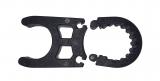 Einzelne Kunststoffklemme für alle Badeleitern, schwarz, Ø 20-22mm