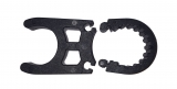 Einzelne Kunststoffklemme für alle Badeleitern, schwarz, Ø 25mm