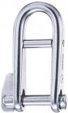 WICHARD Schlüsselschäkel mit Steg - Edelstahl rostfrei, 21 x 12 mm