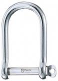 WICHARD Schlüsselschäkel ohne Steg extra Breit - Edelstahl rostfrei, 36 x 20 mm