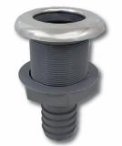 Stabiler Kunststoff-Borddurchlass 26mm Anschluss