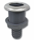 Stabiler Kunststoff-Borddurchlass 32mm Anschluss