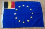 EU Flagge mit kleiner belgischer Flagge links oben 40x60cm