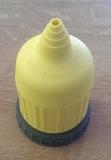 Schutzmuffe für einen NEMA-Landstromstecker gelb mit Flanschring