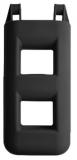 Treppenfender 2-Stufen: 25 x 12 x 55 cm - 3,0 kg Farbe: schwarz