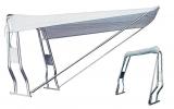 Teleskop-Verdeck Breit 145cm weiss Vorderverdeck -leichte Gebrauchsspuren an den Stangen-