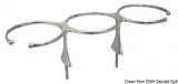 Glashalter für 3 Gläser Außenmaß: 311x106mm aus hochglanzpoliertem rostfreiem Stahl AISI 316.