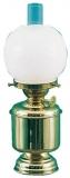 Tischlampe klein mit Opalglaskugel Petroleum