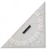 Navigationslineale - Anlegedreieck Acryl Länge 325mm Hypothenuse