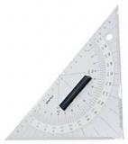 Navigationslineale - Kursdreieck Acryl Länge 250mm Hypothenuse