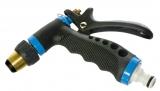 Spritzpistole Profi mit Gummigriff aus Metall schwarz