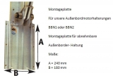 Montageplatte für abnehmbare Außenborder-Halterung O0500360 und O0500420.