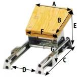 Schlittenmotorhalterung aus NIRO Für Außenborder bis 50 kg.