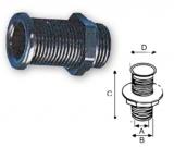 Lenzröhre schwarzer Kunststoff, C= 62 mm