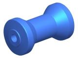 Kielrolle aus Polyurethan Länge 125mm Schaftdurchmesser 16mm