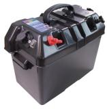 Batteriegehäuse 420 x 250 x 320mm Mit Batterieüberwachung 2 x USB Steckdose Automatische Sicherung 10A / 50A