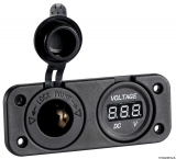Digitaler Spannungsmeter digitales Voltmeter mit Steckdose