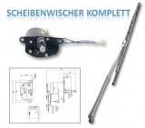 Scheibenwischersatz mit Motor, Arm und Wischerblatt (Niro 316) Wischerarm 300mm Alpha
