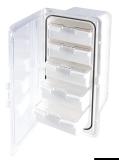 Aufbewahrungskasten mit 5 Schubfächern, 364x183 mm Tür transparent