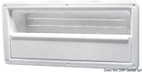 Seitenablage mit selbsklebeder Schraubenabdeckung aus weißem ABS, 540x244 mm