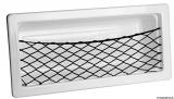 Seitenablage mit elastischem Netz und selbsklebeder Schraubenabdeckung aus weißem ABS, 540x244 mm