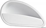 Seitenablage aus weißem ABS, 484x244 mm, rechte Seite